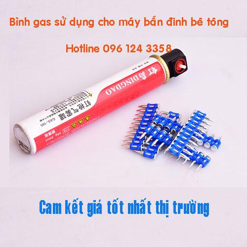 Bình gas sử dụng cho máy bắn đinh bê tông dùng gas